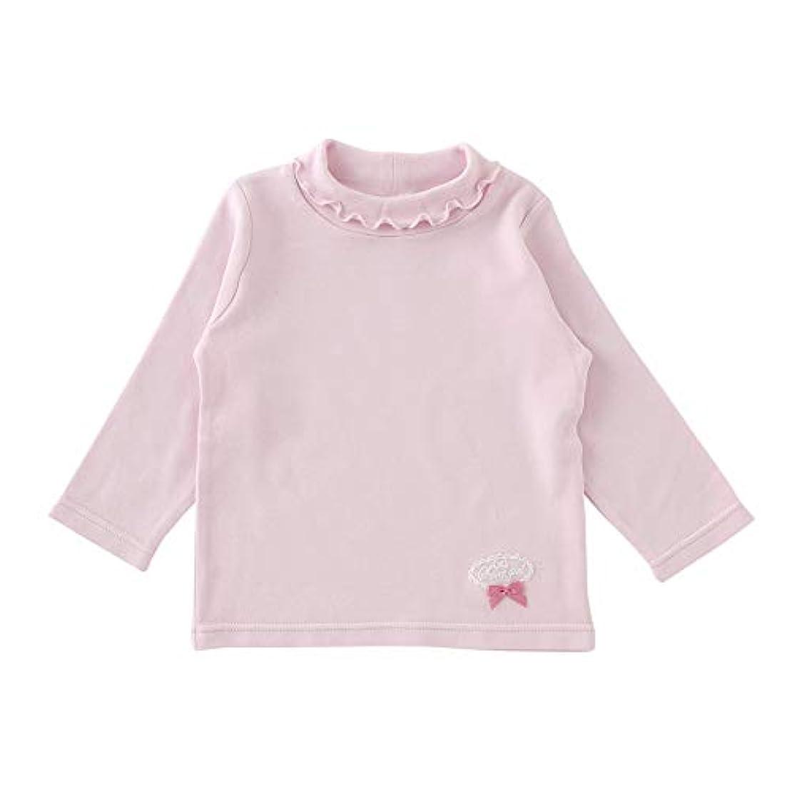 大人服を片付ける細い(チャックルベビー) chuckle BABY スウィートガール ハイネック 長袖 Tシャツ P3007
