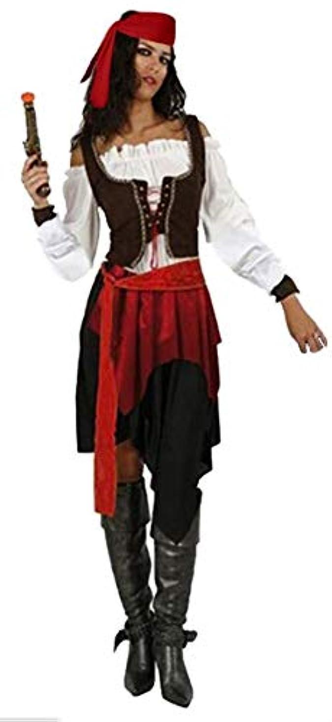 迫害するサワー旅行TriDri (トリドリー) ハロウィン コスプレ 女海賊 パイレーツ コスチューム オブカリビアン風 cosplay (赤/黒, One Size)