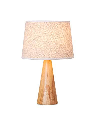 北欧のランプベッドルームのベッドサイドのシンプルなイケアのリビングルームの研究固体木の暖かい光の創造的なledアメリカのテーブルランプ
