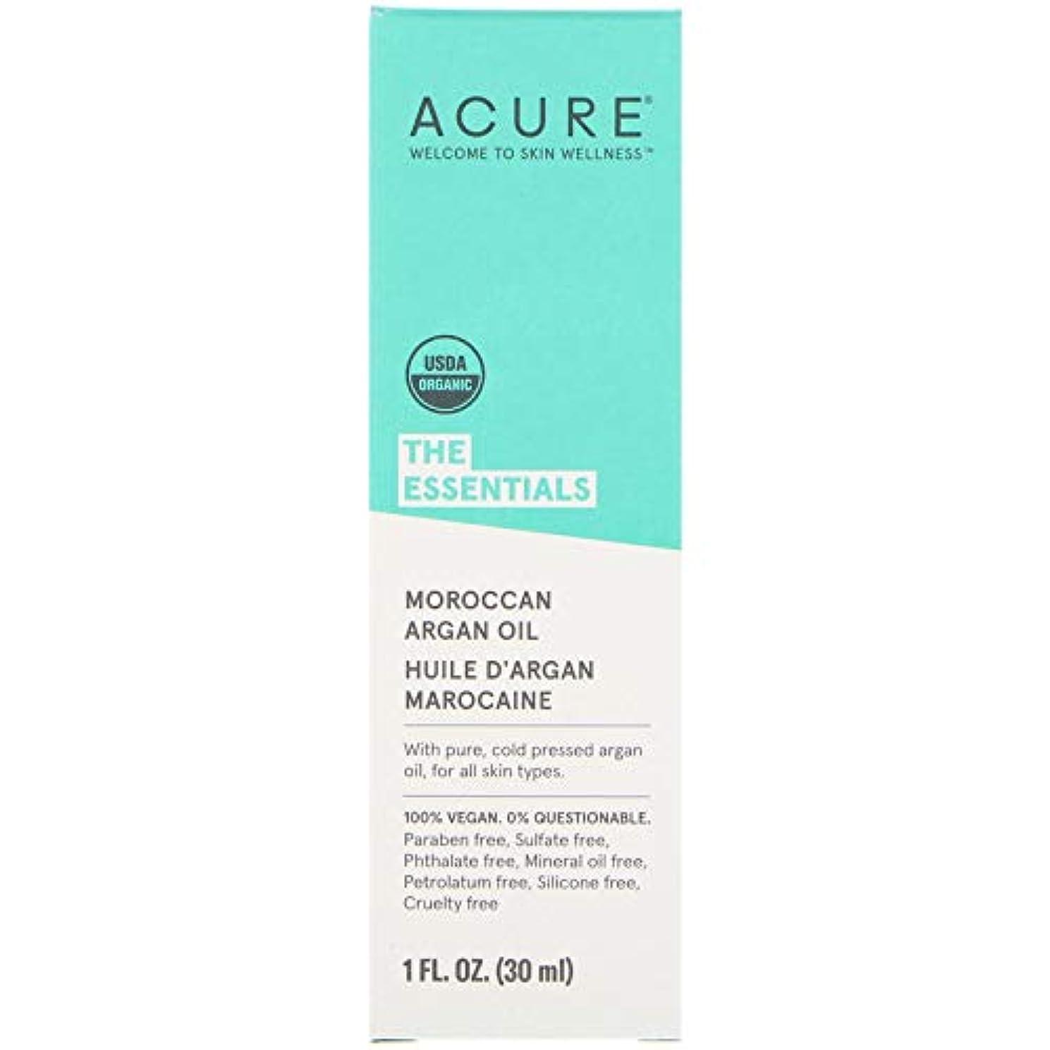 信じられない幻影意味のあるAcure Organics オーガニック モロッコ産 アルガンオイル 30ml x 3本セット [並行輸入品]