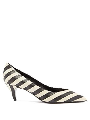 (サンローラン) SAINT LAURENT シャーロット ストライプ エラフェパンプス・レディース シューズ・靴 ・Women`s Shoes (並行輸入品)
