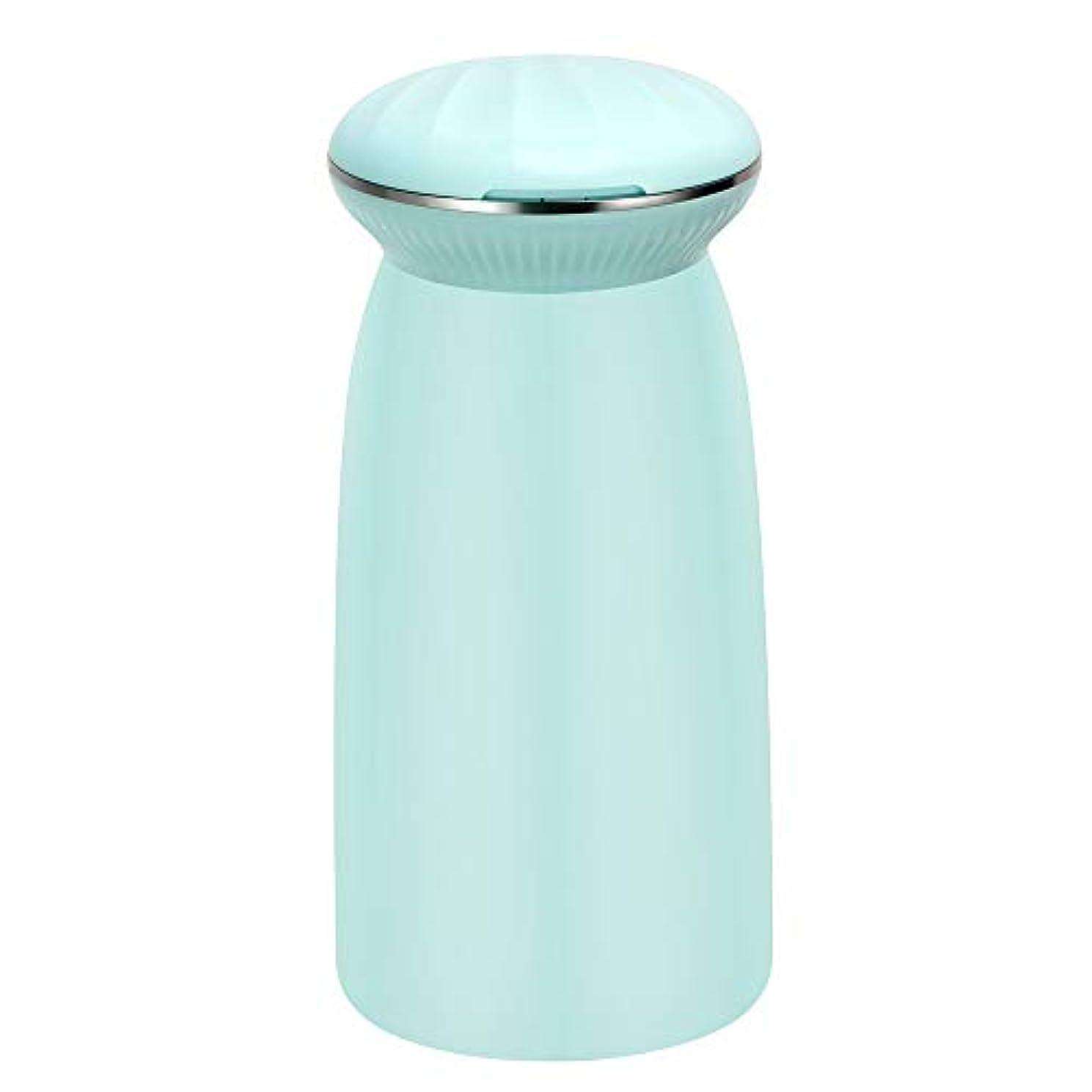 霧深い表面手紙を書く涼しい空気加湿器 - 300ミリリットルスパミストメーカー水フレッシュエアーマシンポータブル超音波加湿器,Blue