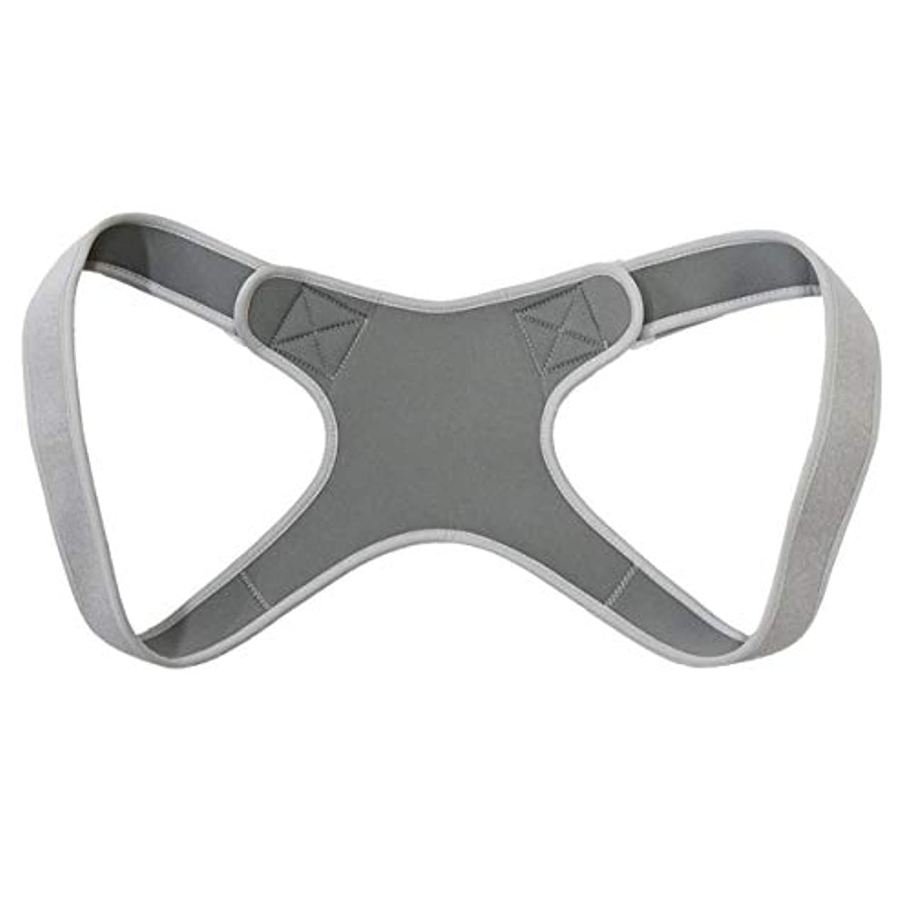 望まない存在する構成新しいアッパーバックポスチャーコレクター姿勢鎖骨サポートコレクターバックストレートショルダーブレースストラップコレクター - グレー