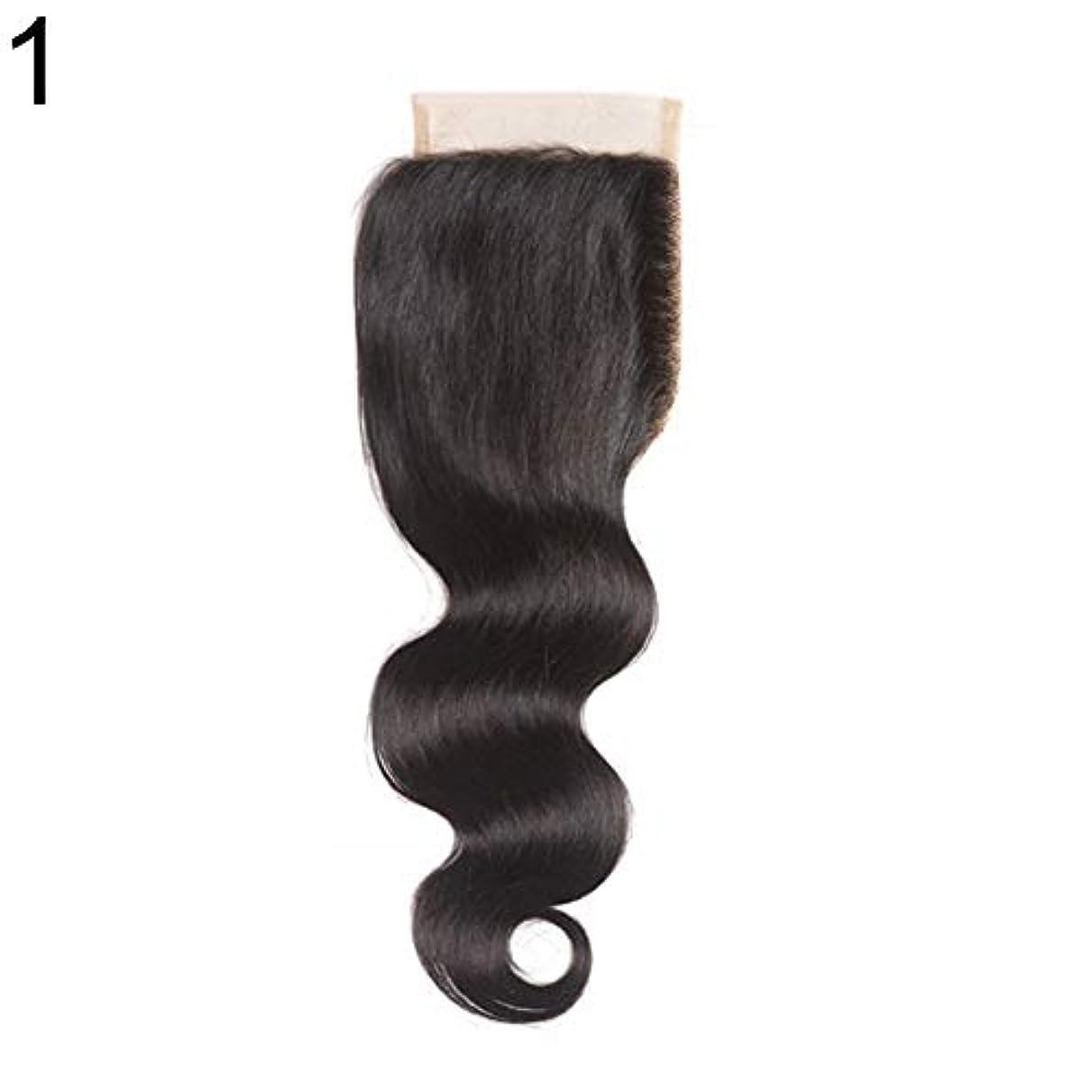 とティーム無限序文slQinjiansav女性ウィッグ修理ツールブラジルのミドル/フリー/3部人間の髪のレース閉鎖ウィッグ黒ヘアピース