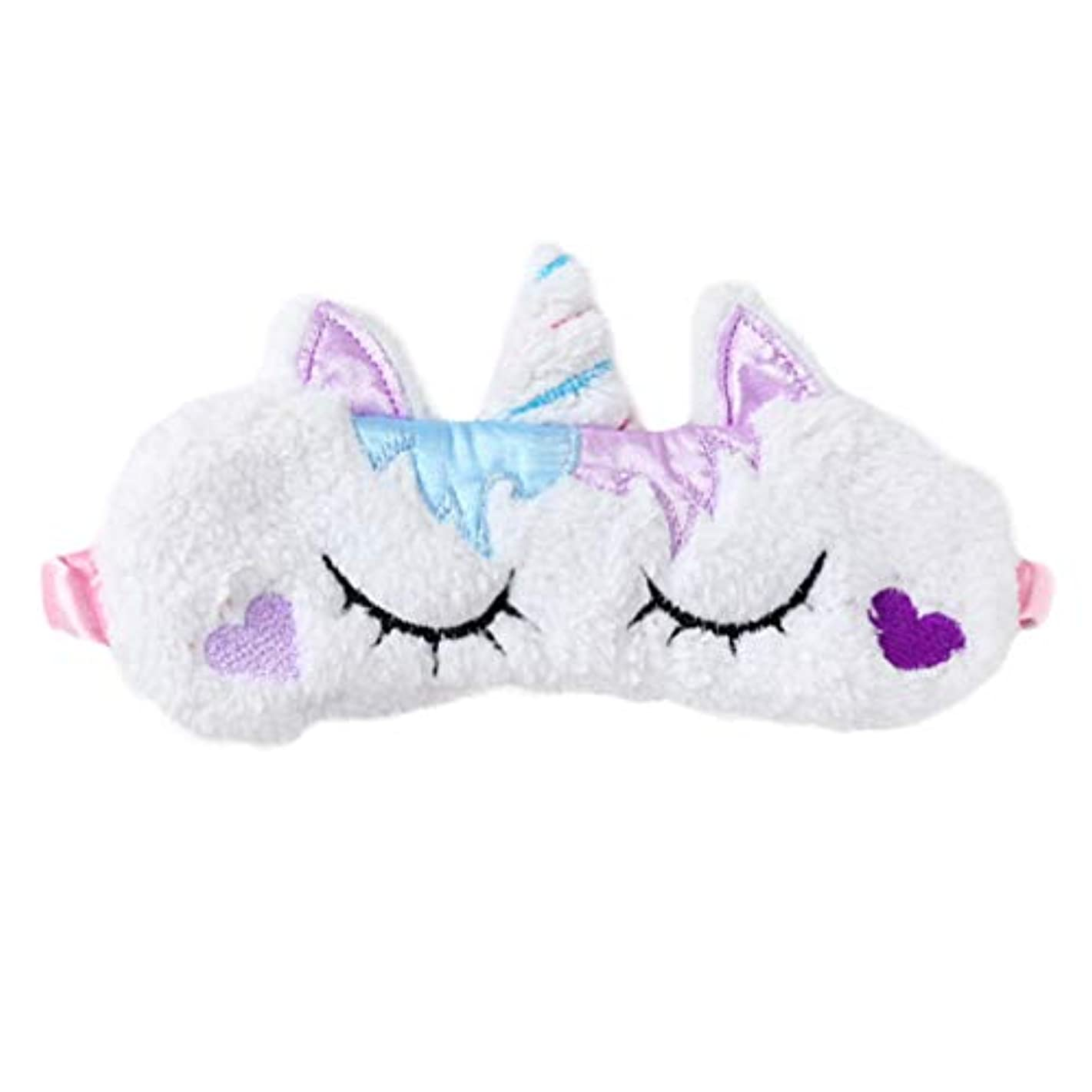 オーガニック天使ファイターLurrose ソフトぬいぐるみユニコーンアイマスクかわいいユニコーンホーンアイカバー睡眠マスク用女性女の子子供旅行夜寝