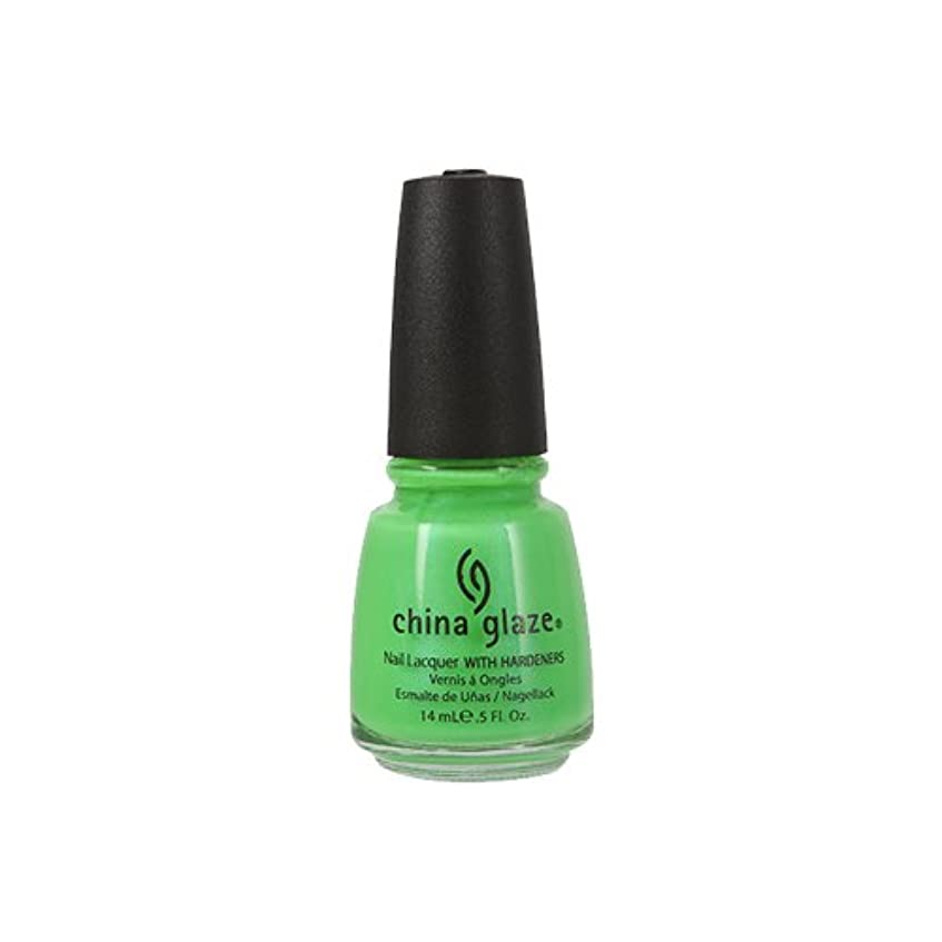 レンズちらつき空港CHINA GLAZE Nail Lacquer with Nail Hardner - In The Lime Light Neon (並行輸入品)