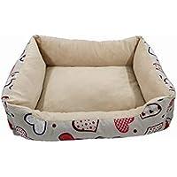 POBO ペットベッド 洗える 防湿 滑り止め 小中型ペットクッション 四季用ベッド犬猫用 (S, ハード花柄)