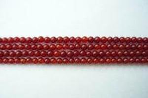 【天然石 パワーストーン ビーズ】レッドアゲート(赤瑪瑙)丸玉ビーズ2mm(1連約40cm)
