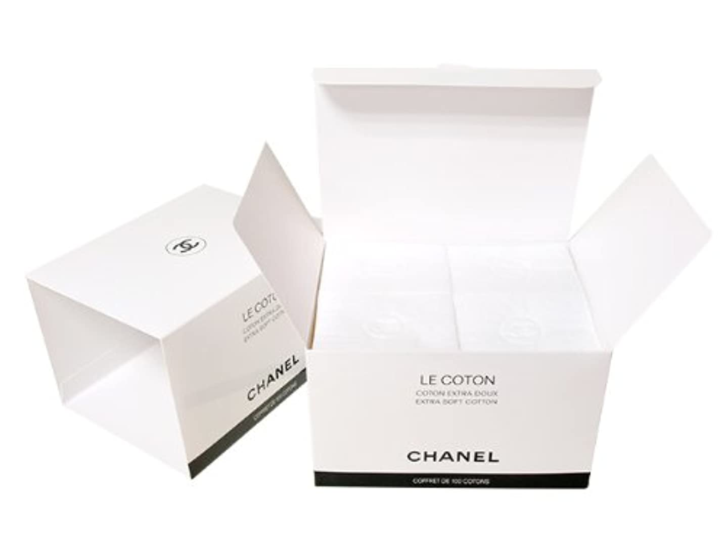 要旨先史時代の変形するCHANEL(シャネル) LE COTON ロゴ入りオーガニックコットン 100枚入