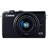カメラ カメラ本体 デジタルカメラ Canon EOSM100BK-1545ISSTMLK ミラーレス一眼カメラ 「EOS M100」 EF-M15-45 IS STMレンズキット ブラック EOSM100EF-M15-45 -ah [簡素パッケージ品]