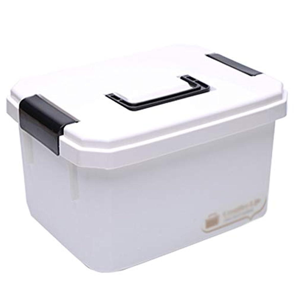 薬剤師悲観的側ドラッグ収納ボックス 医療箱プラスチック材料、ポータブルポータブル大容量多層防湿防塵、家庭用薬箱スーツケース子供緊急医療箱旅行ポータブル医療箱薬収納ボックス - 2サイズ (サイズ さいず : 33*25*18cm)
