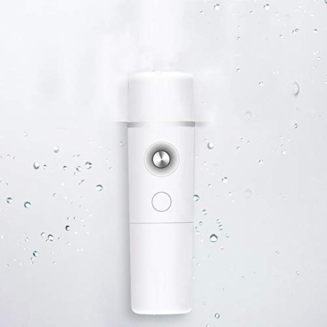 対応する普通に急性ZXF ナノスプレー水和機器スチームフェイスコールドスプレー美容機器ポータブル保湿フェイシャルフェイシャル加湿機器バッテリーホワイト 滑らかである