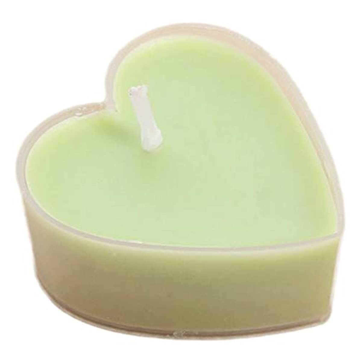 おとなしいピンク病的キャンドル、12のハート型の香り付きキャンドルスタンド付き、無煙ティーライトギフトセットホームデコレーション入浴ヨガクリスマスバレンタインデー誕生日パーティーギフト装飾キャンドル (Color : Green)