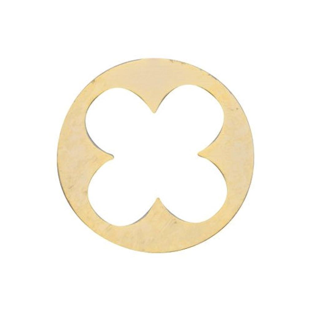 債権者農場キャベツリトルプリティー ネイルアートパーツ 丸花スカシ ゴールド 10個