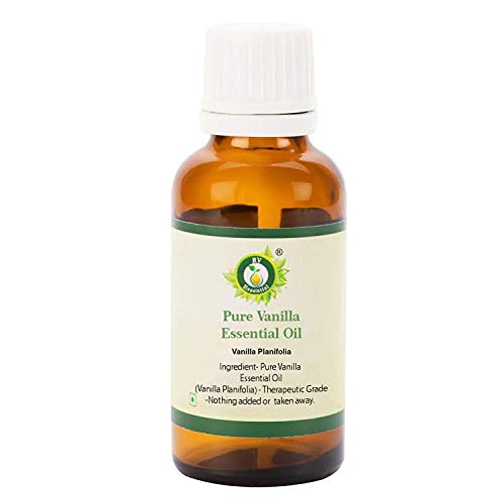 落とし穴評議会ひばりR V Essential ピュアバニラエッセンシャルオイル30ml (1.01oz)- Vanilla Planifolia (100%純粋&天然) Pure Vanilla Essential Oil
