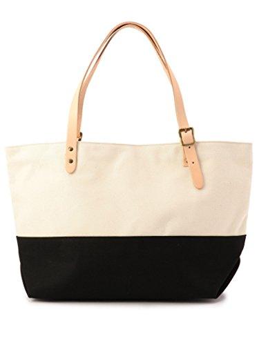 (シップス) SHIPS 鞄 ショルダーバッグ AMIACALVA キャンバス トート 2トーン 118433071 日本 ONE SIZE ブラック 黒