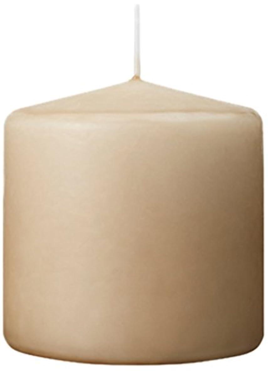 混合トロリー鉛筆カメヤマキャンドルハウス 3×3ベルトップピラーキャンドル 「 ベージュ 」