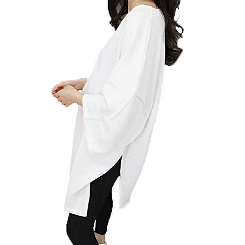 簡単に趣味魔術師[ココチエ] ワンピース 白 半袖 ロング 大きいサイズ おおきいサイズ おしゃれ ゆったり 体型カバー プルオーバー Tシャツ ビッグサイズ オーバーサイズ
