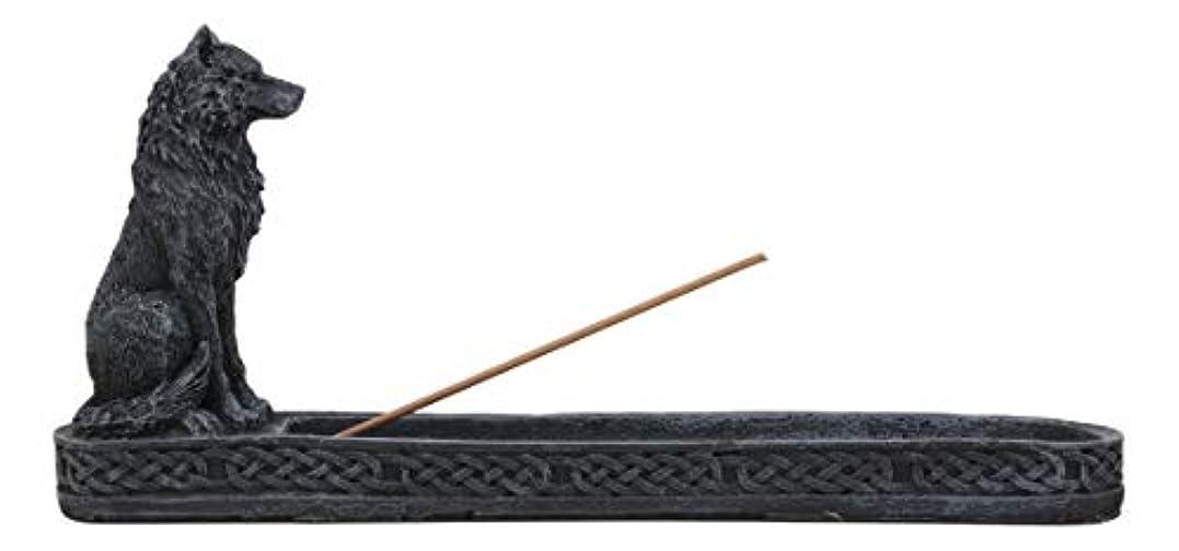 ハンドブックモーターメッシュWerewolf Lycan Wolf Incense Burner樹脂ゴシック置物彫刻ホームデコレーション