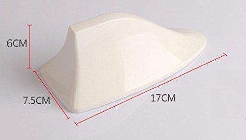 シャークフィン ルーフ アンテナ ドルフィン SUV AM/FM 選べるカラー 簡単取付 感度良好 (シルバー)
