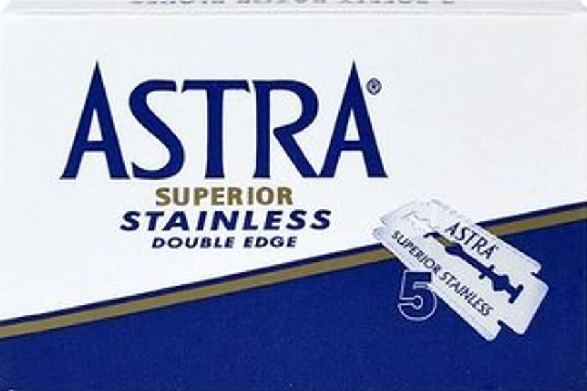 ASTRA Superior Stainless 両刃替刃 5枚入り(5枚入り1 個セット)【並行輸入品】