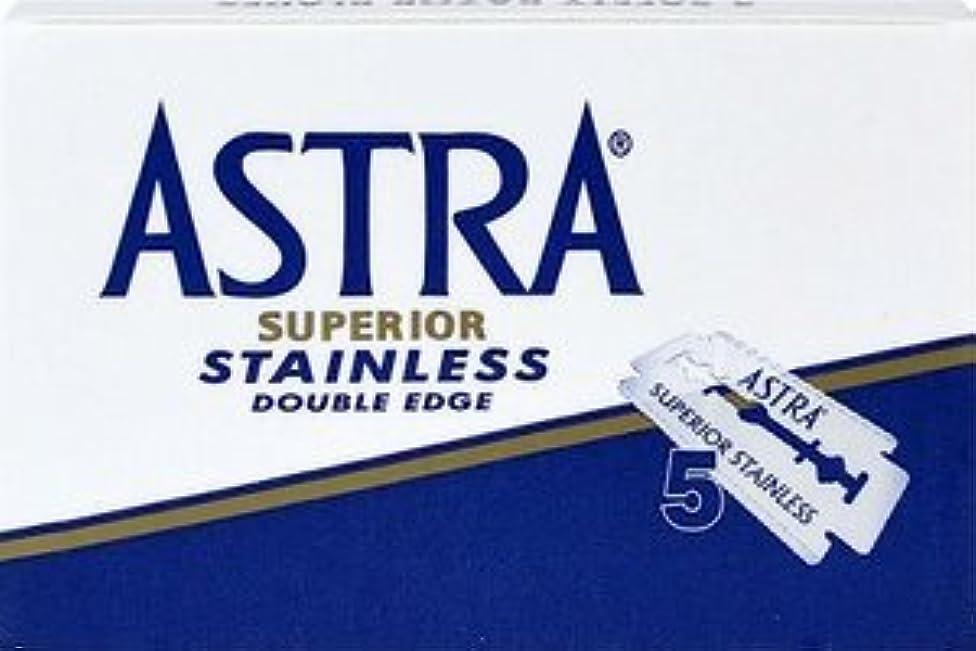うっかり不毛パイASTRA Superior Stainless 両刃替刃 5枚入り(5枚入り1 個セット)【並行輸入品】