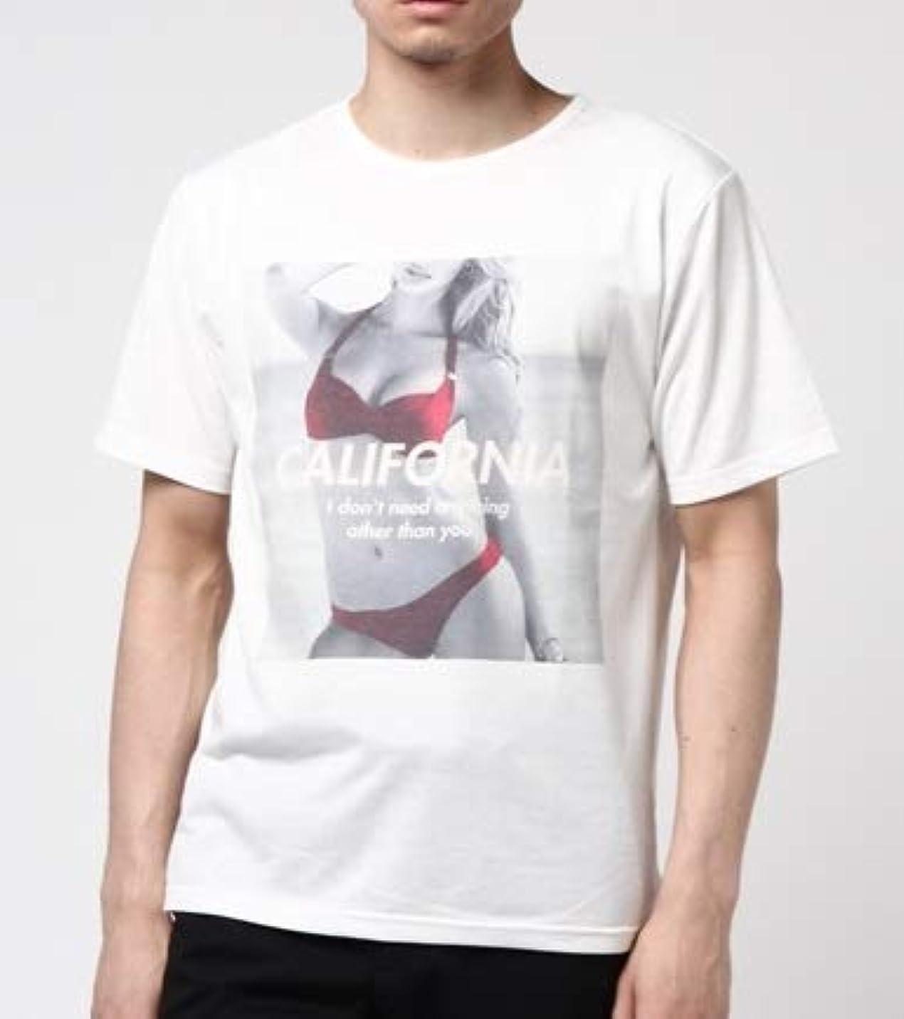 誤解させる前提条件脇に(アドミックス/アトリエサブメン) ADMIX/ATELIER SAB MEN Tシャツ 半袖フォトプリントT 02-66-9108