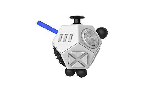HTP ストレス解消 キューブ  12面ポケットゲーム おもちゃ イライラ解消 落ち着かせ 集中力を高める ゲーム依存症 (ホワイト)
