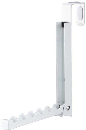 山崎実業 折り畳みドアハンガー ホワイト 約W2×D7~20.5×H20cm スマート 7161