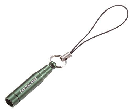 キャプテンスタッグ(CAPTAIN STAG) アウトドア用 笛 ミニホイッスル 携帯ストラップ付 ダークグリーンUM-1827