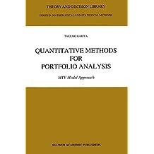 Quantitative Methods for Portfolio Analysis: MTV Model Approach: 23