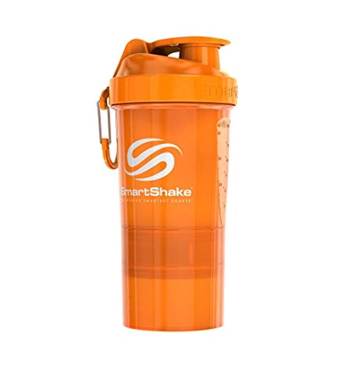 事記録岩SmartShake(スマートシェイク) プロテインシェイカー SmartShake O2GO NEON Orange 600ml