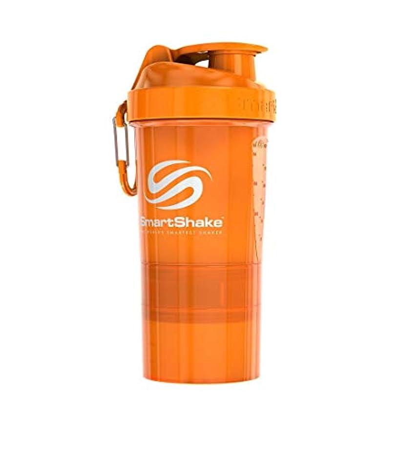 スクリュー飛躍手つかずのSmartShake(スマートシェイク) プロテインシェイカー SmartShake O2GO NEON Orange 600ml