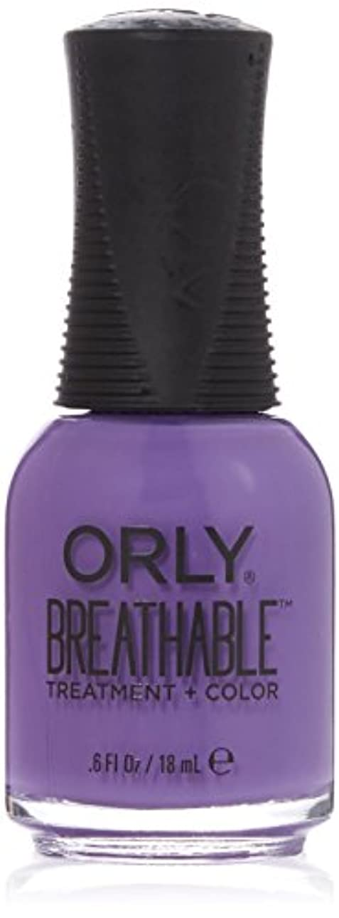 失敗みなさん樹皮Orly Breathable Treatment + Color Nail Lacquer - Feeling Free - 0.6oz/18ml