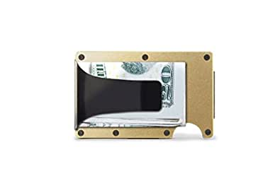 [ザ リッジ] the RIDGE スマートフォンよりも薄い財布 マネークリップ アルミニウム ゴールド  (Japan Limited)