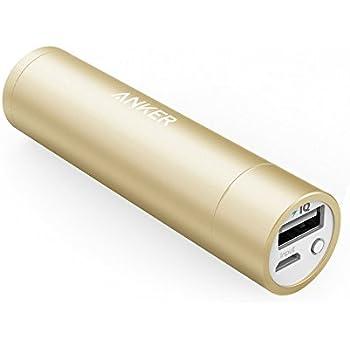 Anker PowerCore+ mini (3350mAh 超小型モバイルバッテリー) 【PSE認証済 / PowerIQ搭載】iPhone&Android対応(ゴールド)