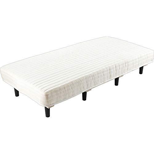 アイリスプラザ 脚付きマットレス シングル ポケットコイル 圧縮梱包 すのこベッド 柔らかめ アイボリー ベッド AATM-S