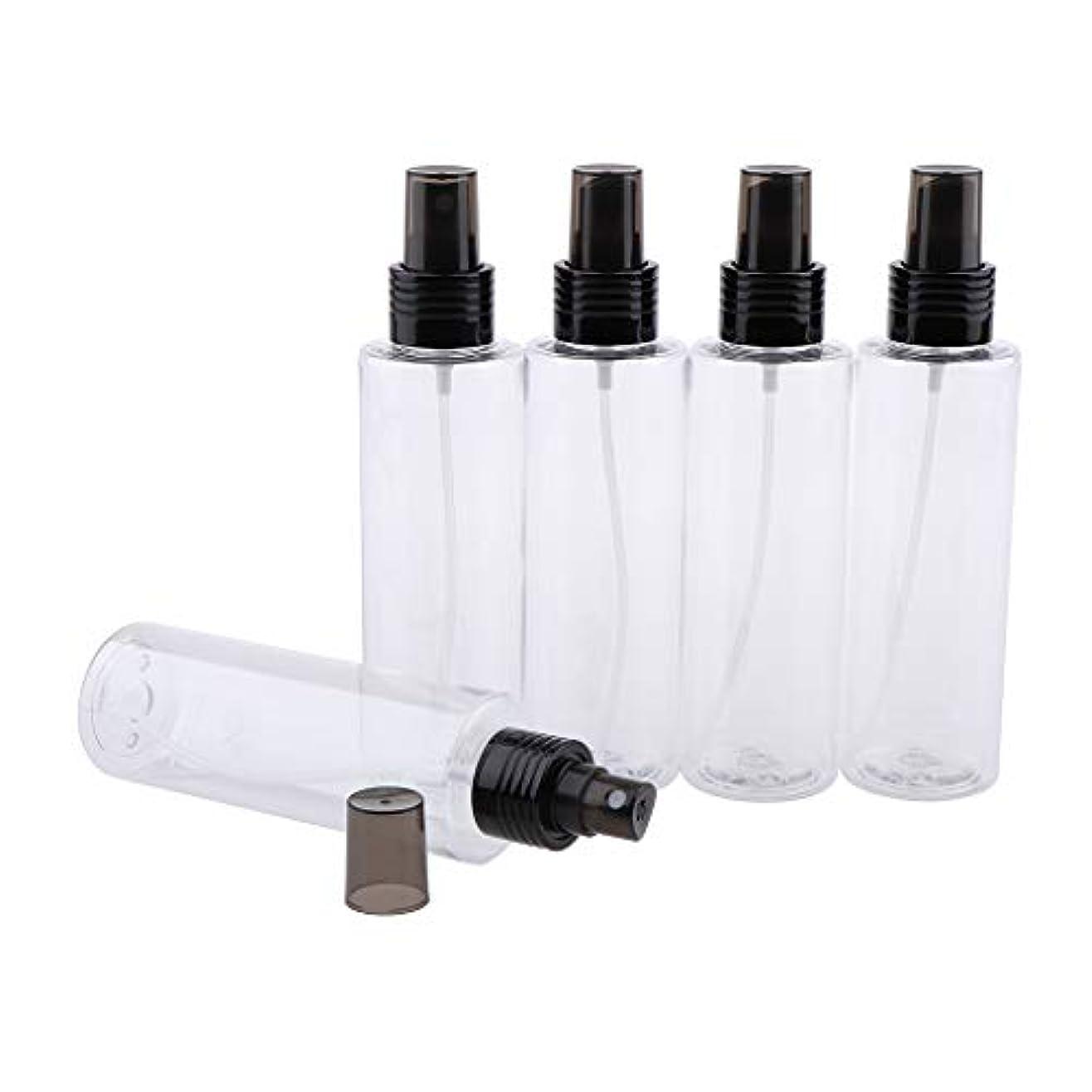 予算まさに故障中FutuHome 5ピース旅行ボトル空のクリアプラスチックファインミストスプレーボトル用クリーニング、旅行、精油、香水 - 150ML
