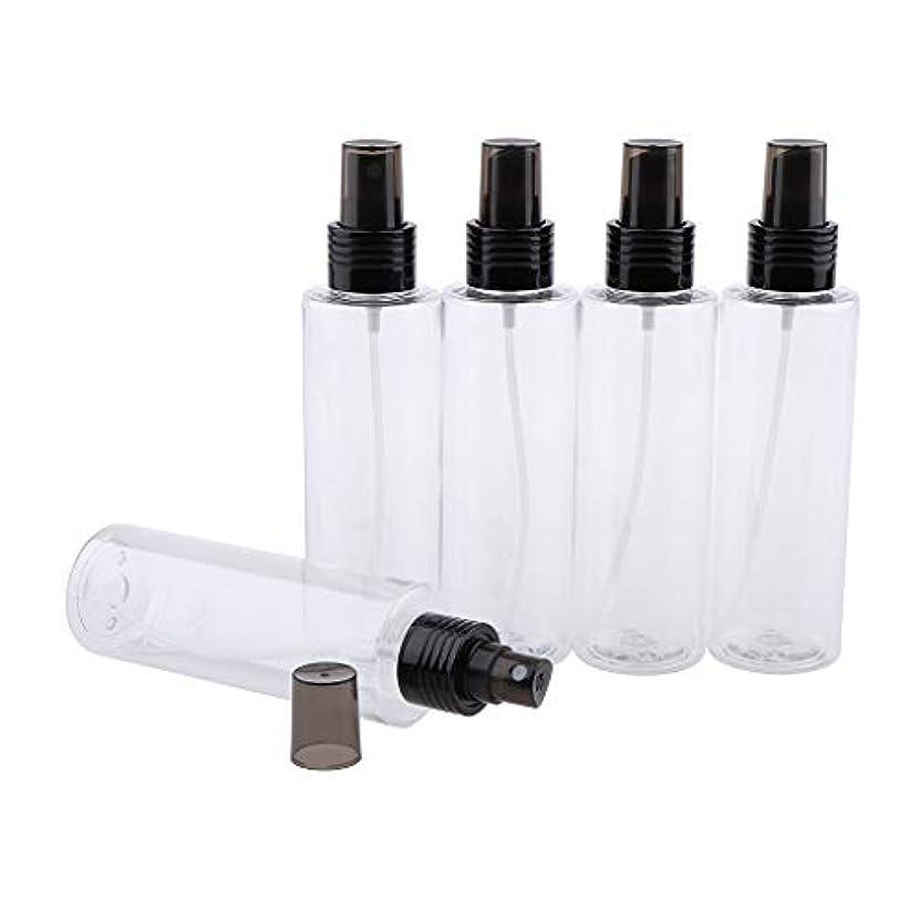飛行機義務づける心のこもったFutuHome 5ピース旅行ボトル空のクリアプラスチックファインミストスプレーボトル用クリーニング、旅行、精油、香水 - 150ML