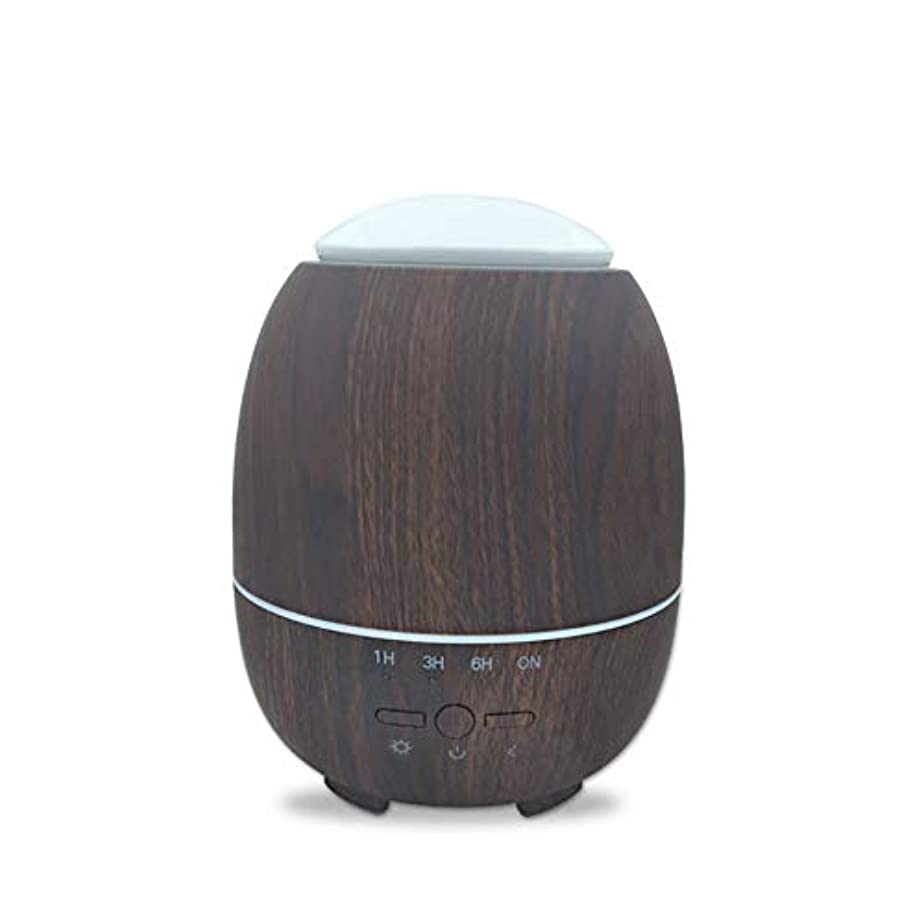 感覚大学適性アロマエッセンシャルオイルクールミスト加湿器、ウッドグレインアロマディフューザー、スーパーハイアロマ出力、調節可能ミストモード、7色LEDライト,deepgrain