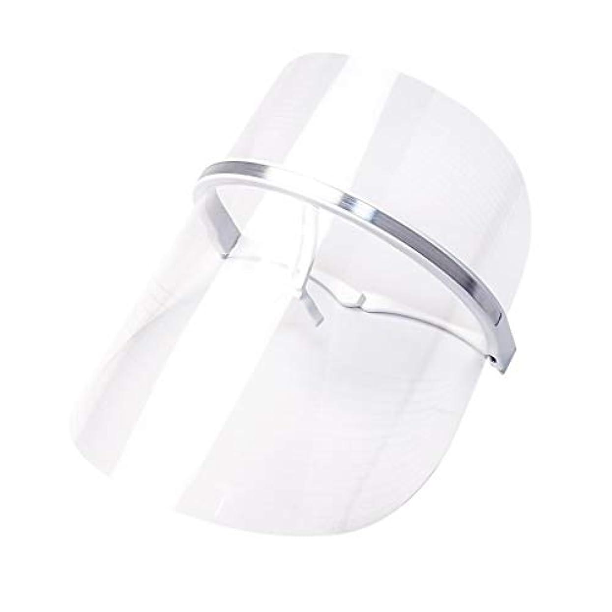 溢れんばかりの帝国非常にライトセラピー?マスク、LEDライトセラピーマスクスキンケアフェイシャルマスクセラピー3色アンチエイジングライトセラピーアクネスキンファーミングディープリペアマスク (Color : Clear)