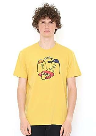 (グラニフ) graniph Tシャツ ブローイングイントゥザゲームカートリッジ (クラシックイエロー) メンズ レディース SS
