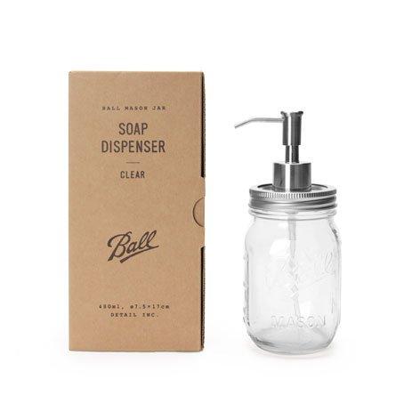 【DETAIL】Ballmason Jar Soap Dispenser ソープディスペンサー (Clear)