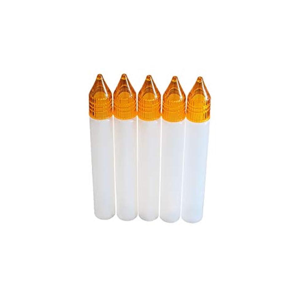 アンソロジー天井煩わしいユニコーンボトル 15ml【リキッド保存用】5本セット (オレンジ)