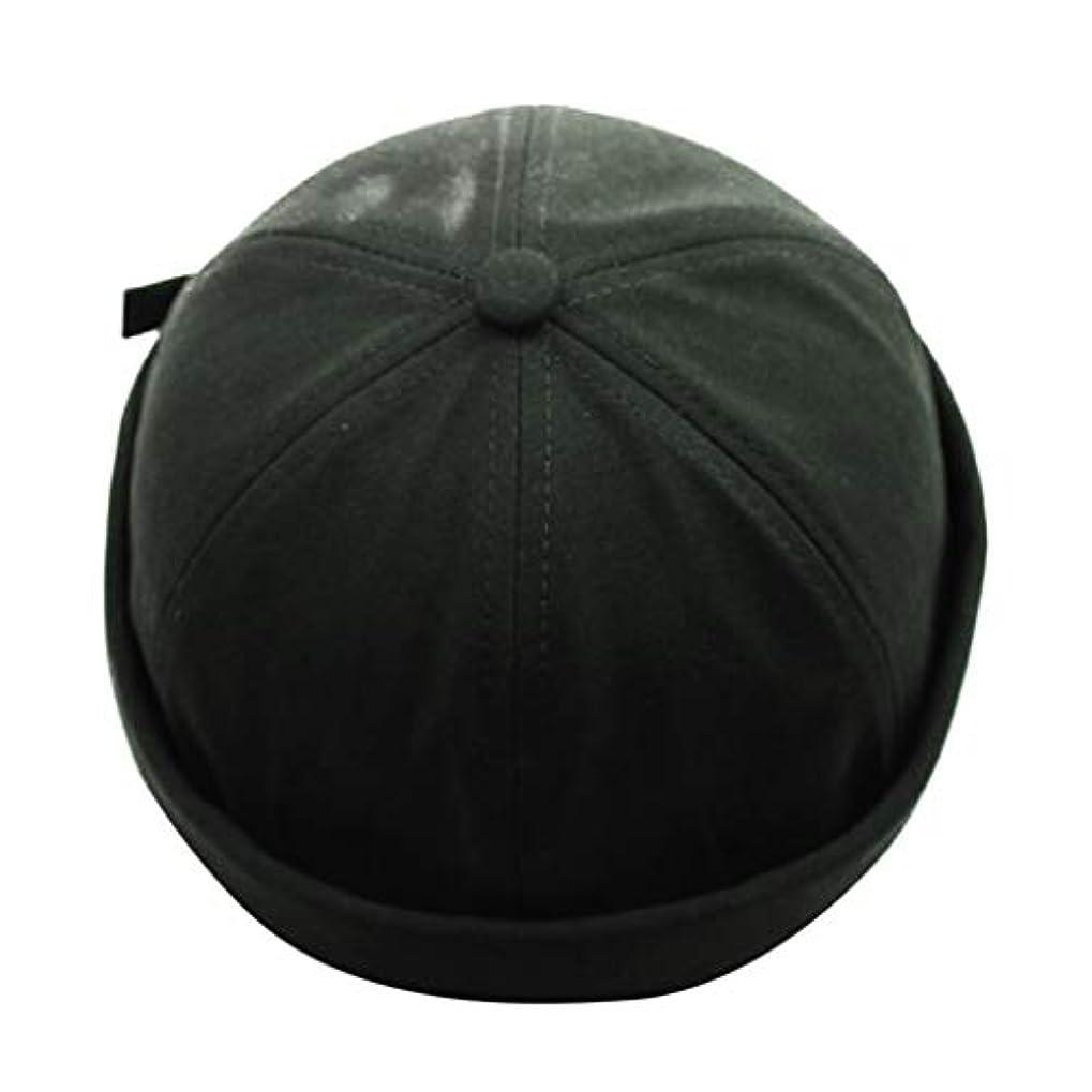 恥ワーカー解放キャップ レディースメンズ 通気コットン100% ベレー帽 カジュアルリサイズ春夏サンシェード野球帽 (グリーン)