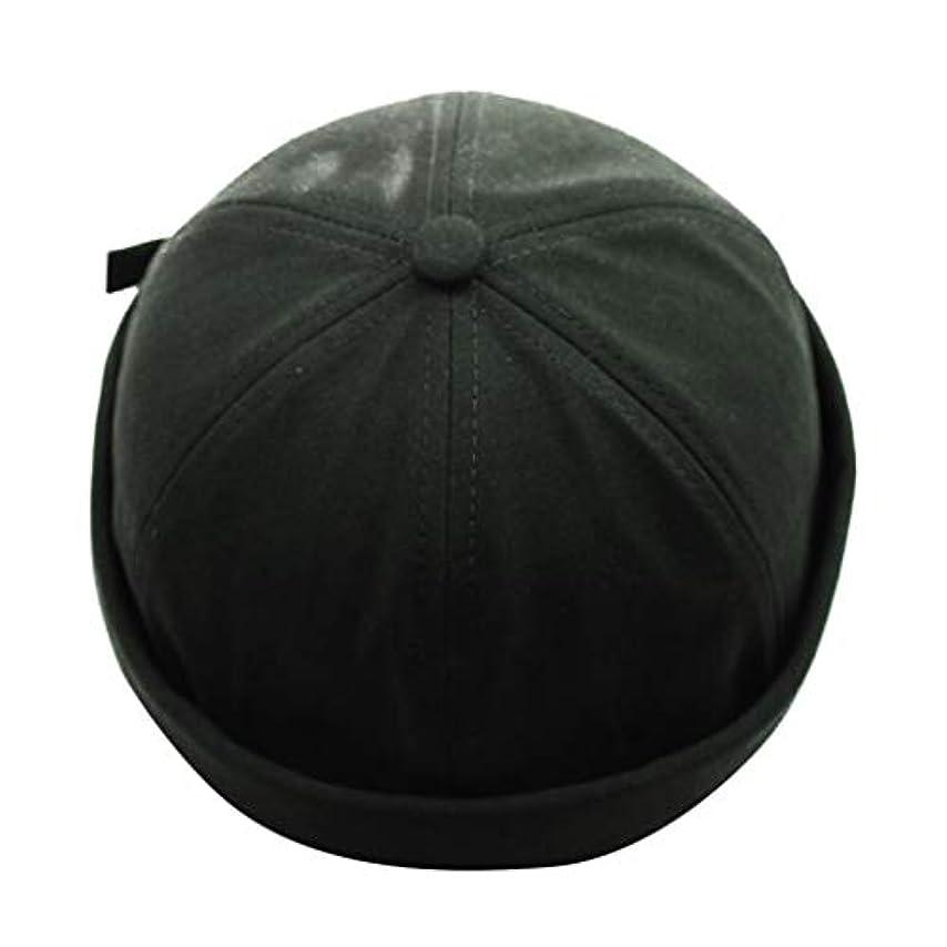 ラフ細断遊び場キャップ レディースメンズ 通気コットン100% ベレー帽 カジュアルリサイズ春夏サンシェード野球帽 (グリーン)
