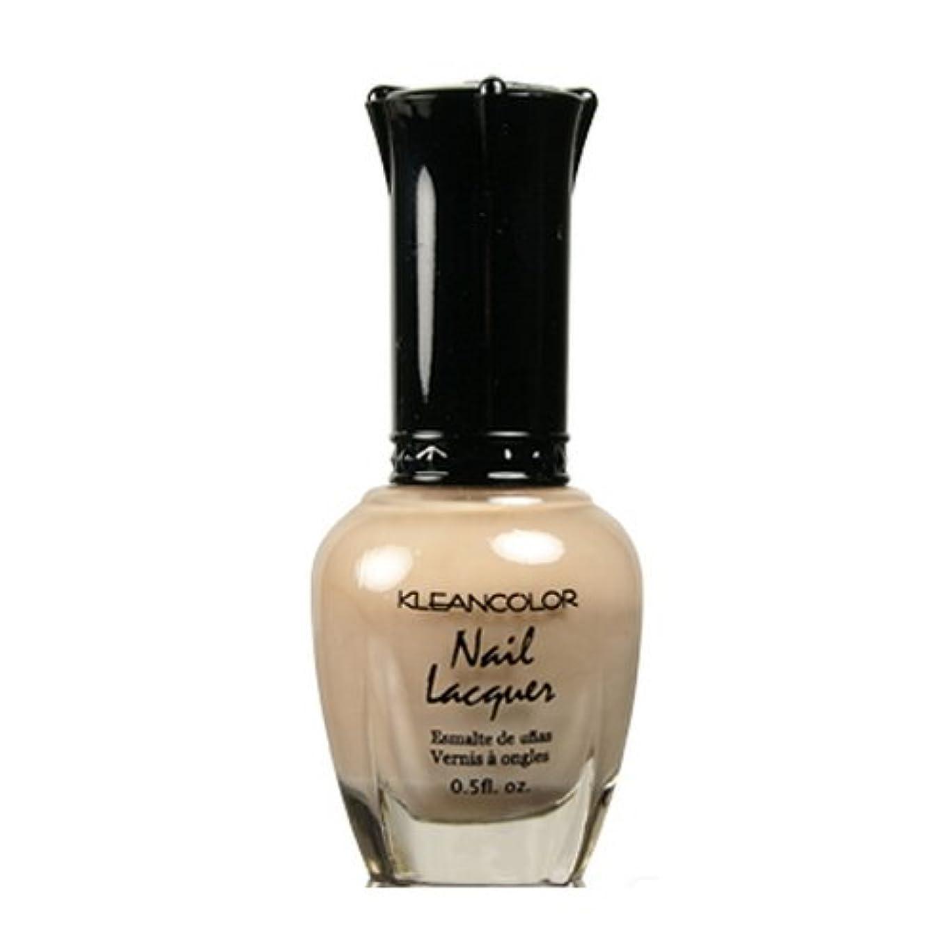 樹皮犯す最も遠い(6 Pack) KLEANCOLOR Nail Lacquer 3 - Sheer Pastel Brown (並行輸入品)