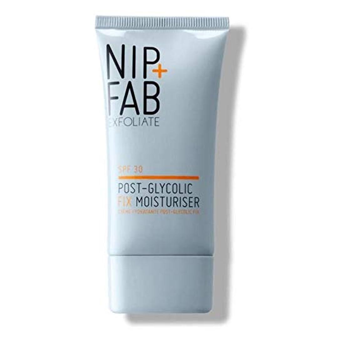 [Nip & Fab ] + Fabポストグリコール修正モイスチャライザーSpf 30 40ミリリットルニップ - Nip+Fab Post Glycolic Fix Moisturiser SPF 30 40ml [並行輸入品]