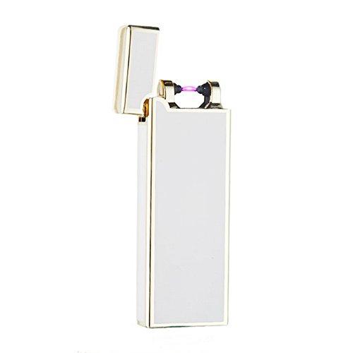 電子ライター USB 充電式 振って点火 プラズマ着火 USBライター J-dragon (ホワイト)