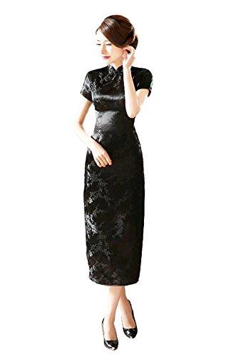ブラックオーメン チャイナ ドレス レディース (全黒色(オールブラック)、XXL)op022al-bk/xxl